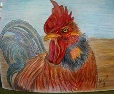 Rooster...color pencil...by Amanda Coetze '17