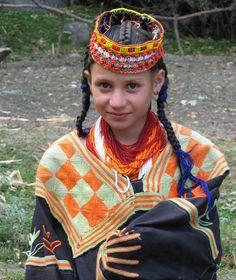 Kalashi girl, Chitral, Pakistan