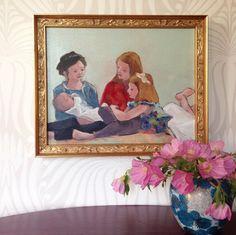 """Komenda girls"" in Jenny Komenda's home - art by Lynne Millar"