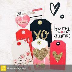 Repost from @marinette_scrap using @RepostRegramApp - In our @hipkitclub January Embellishment Kit @cratepaper Hello Love Layered Tags #hipkits #hipkitclub #january2016 #scrapbook #scrapbooking #papercrafting #marinettelesne