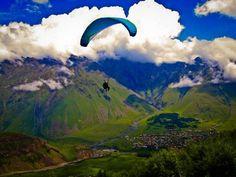 Paragliding in Tbilisi, Georgia