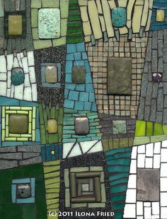 Stitches and Stones by Mixed Media Mosaics I like this!