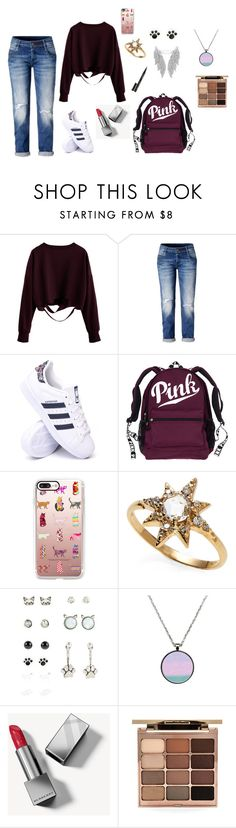 """Untitled #1401"" by nestor-ana ❤ liked on Polyvore featuring adidas, Casetify, Anzie, Burberry, Stila and Smith & Cult"