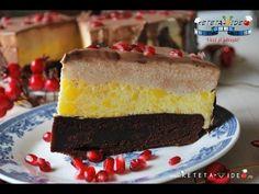 Tort cu Blat fara Gluten, Mousse de Portocale, Mousse de Iaurt si Banane si Glazura de Ciocolata - Reteta Video Cake, Desserts, Food, Mousse, Sweet, Youtube, Sweets, Banana, Tailgate Desserts