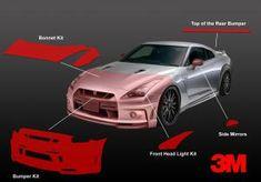 Maserati GranTurismo Cabrio Sport Front Bumper Stone Chip Protection Guard Film