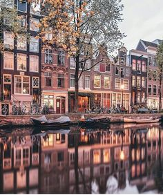 Canal houses in Holland