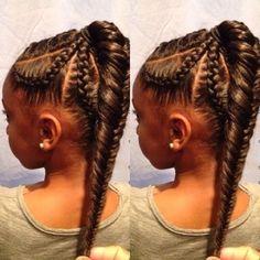 fishtailed ponytail for black hair