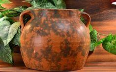 Burley Winter Pottery Jar Matt Orange Green by KingsFortune Zanesville Ohio, Winter Art, Pottery Art, Jar, Orange, Green, Vintage, Etsy, Vintage Comics