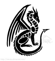 Small Dragon Tattoo by ~Strecno on deviantART  If I was gonna get a dragon, this would be the one. I love the simplicity.
