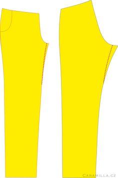 Úpravy střihů: kalhoty – Caramilla.cz Basic Tank Top, Tank Tops, Sewing, Women, Fashion, Moda, Halter Tops, Dressmaking, Couture
