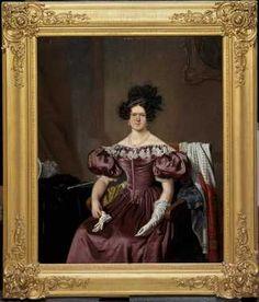 Portret van Susanna Jacoba Martens (1799-1860), echtgenote van Jacob Constantijn Martens van Sevenhoven (ca. 1835) Jan Lodewijk Jonxis. Olieverf op doek. Inventarisnummer 18049