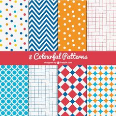 Dozens of free vector patterns from TemplateMonster