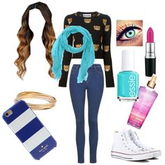 Chill by tfiosunicorn on Polyvore featuring polyvore, fashion, style, Moschino, Topshop, Converse, Madewell, Altea, Kate Spade and Essie