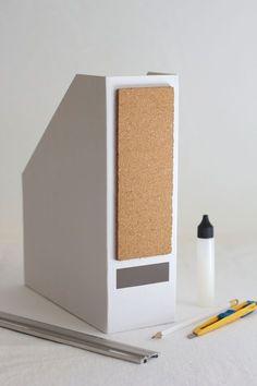 DIY: folder with cork pin board - we love handmade - DIY: Ordner mit Kork-Pinnwand – we love handmade DIY: folder with cork bulletin board