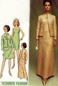 1960s Simplicity 7348 Designer Fashion Scooped by sandritocat, $14.00