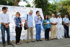 Sylvia Earle with Jean-Michel Cousteau at Cozumel's ScubaFest!