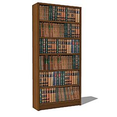 Selection of simple wooden bookcases, with and wit....
