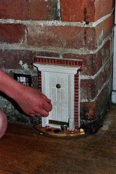 Random fairy / sprite / littles door inside the house.