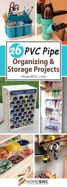 PVC Pipe Organizing and Storage Ideas. Wonderful for Organizing your Craft Room!