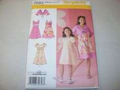 New Simplicity Girl's Dress  Pattern 2683 K5 78101214 by martijean, $3.95