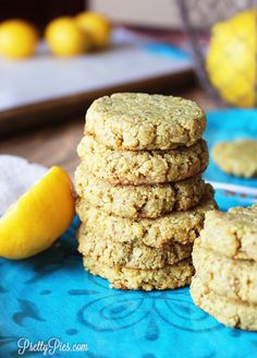 Chewy cookies without ANY butter, flour, eggs or SUGAR! Your taste buds won't believe these Lemon Cookies are low-CARB! (Vegan, Paleo & Keto approved)