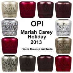 Fierce Makeup and Nails: OPI Mariah Carey Holiday Press Release!