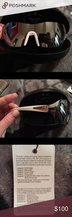 Women's PRADA Milano dal 1913 Sunglasses Brand new with tags! Never worn. Very dark lenses. Prada Accessories Sunglasses