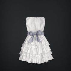 BRISBANE WATERS - SUPERSOFT, PRETTY RUFFLED TIERS WITH EMBROIDERED FLORAL LACE, SOFT SMOCKED TOP, SOFT STRIPED TIE AT WAIST, LOGO ENGRAVED METAL CHARM NEAR HEM, SLIM FIT