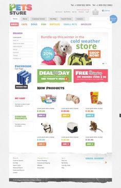 Pet Shop Magento Theme #37307