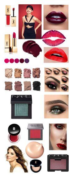 """Dark Winter Makeup"" by stylist-vera on Polyvore featuring coloranalysis, Wintermakeup, Type4, darkwinter, beauty, Yves Saint Laurent, Givenchy, Deborah Lippmann, DeepWinter and Illamasqua"