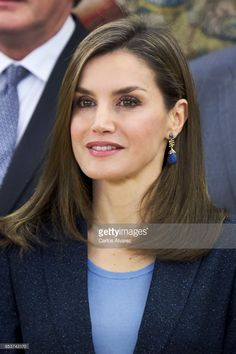 Queen Letizia of Spain attends several audiences at the Zarzuela Palace on March 16, 2017 in Madrid, Spain.