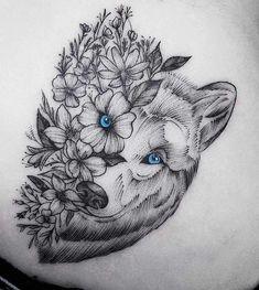 Wolf Tattoos - Bilder - Tattoo Designs For Women Hand Tattoos, Unique Tattoos, Cute Tattoos, Body Art Tattoos, Small Tattoos, Sleeve Tattoos, Tatoos, Husky Tattoo, Lion Tattoo