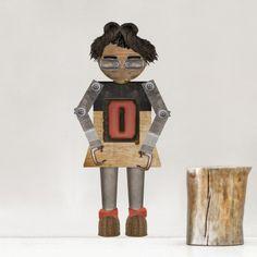 Robot Oli #robot #custom #wallsticker #decoration #adhesiu #kids #room