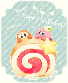 カービィ26周年おめでとう!🎂🍭🍅✨ #Happy26thBirthdayKirby Kawaii Drawings, Cute Drawings, Body Drawing Tutorial, Kirby Character, Meta Knight, Videogames, Nintendo Characters, I Love My Son, Happy B Day
