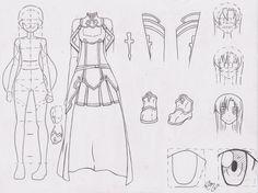 Manga Tutorial: Full Character 07 (Asuna). by FutagoFude-2insROID.deviantart.com on @deviantART