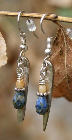 More silverware jewelry: Fork Tine Earrings by kimmykats