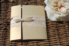 Gated Collection in Gold / champagne  Lace Wedding by inkandlove
