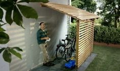 Amazing Shed Plans - Garage à vélos – Bikeport Now You Can Build ANY Shed In A Weekend Even If You've Zero Woodworking Experience! Start building amazing sheds the easier way with a collection of shed plans! Pool Storage, Outdoor Storage, Outdoor Toys, Outdoor Spaces, Kayak Storage, Storage Cart, Garage Storage, Outdoor Projects, Garden Projects
