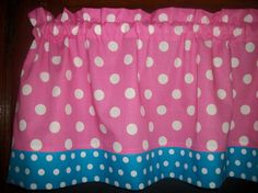 Bubble Gum Pink Turquoise Polka Dot girls by yoursewingroom