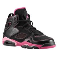 Jordan FLT Club 91 - Girls Grade School - Black / Pink