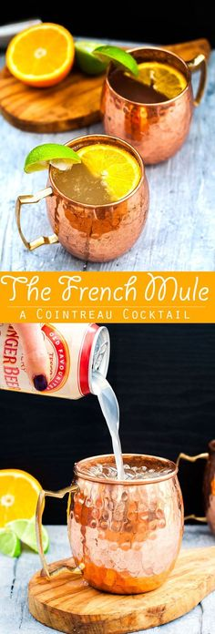 This French Mule Cocktail is a cointreau cocktail inspired by the classic Moscow Mule Cointreau Cocktail | Easy cocktail recipe | Moscow Mule | Citrus cocktail #moscowmule #classiccocktail #easycocktail