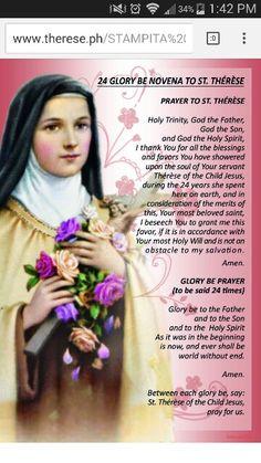 st therese of the child jesus novena Novena Prayers, Catholic Prayers, Catholic Saints, Patron Saints, Roman Catholic, Catholic Religion, Bible Prayers, Sainte Therese De Lisieux, Ste Therese