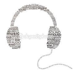 Typography headphones