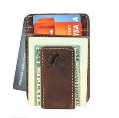 Urban Cowboy Apparel front pocket leather wallet, comes with 3 card holders and an ID window. Fits perfectly in your front pocket for maxamium comfort.