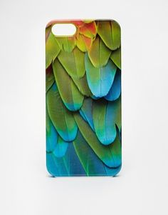 Signature iPhone 5 Case In Parrot Feather Print