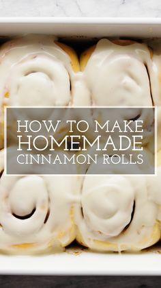 Best Cinnamon Rolls, Cinnamon Recipes, Bakery Cinnamon Roll Recipe, Cinnamon Roll Recipe Video, Easy Homemade Cinnamon Rolls, Sweet Roll Dough Recipe, Cinnamon Roll Frosting, Homemade Yeast Rolls, Overnight Cinnamon Rolls
