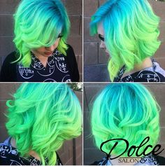 We are in LOVE with this hair! So bright and fun for spring! #dolcesalonspa #fun #bright