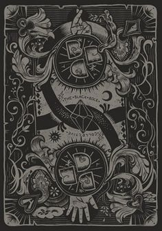 Black Rock Collective - Monochrome Playing Cards