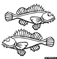 Free Coloring Pages Of Prehistoric Fish