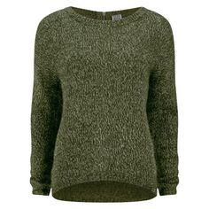 Vero Moda Women's Tango Zip Jumper (€11) ❤ liked on Polyvore featuring tops, sweaters, jumpers, shirts, green, bleach shirt, green shirt, green sweater, green top e long sleeve tops
